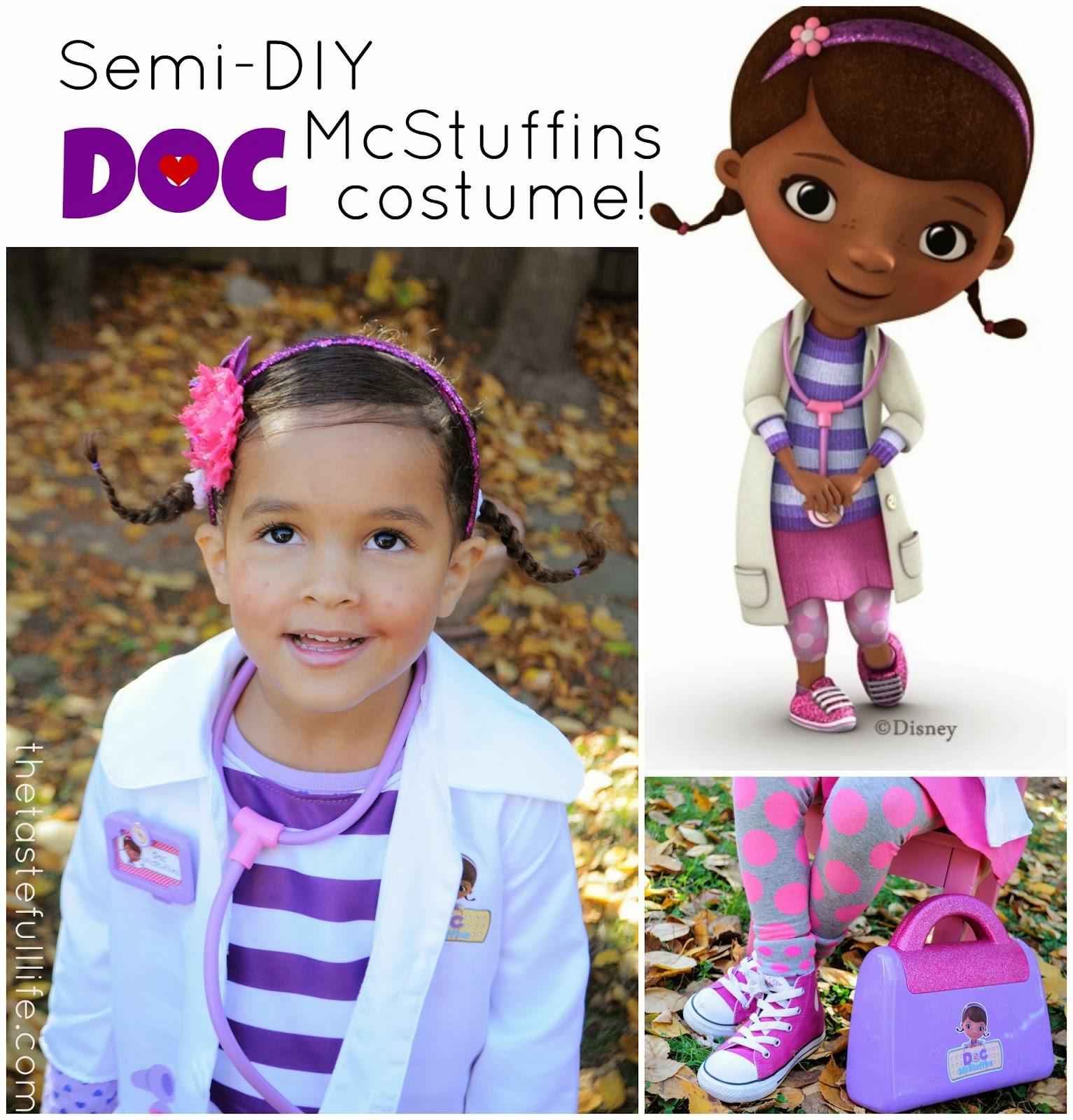 DIY Doc Mcstuffins Costume  The Doc is In Semi DIY Doc McStuffins Costume Pretty Real
