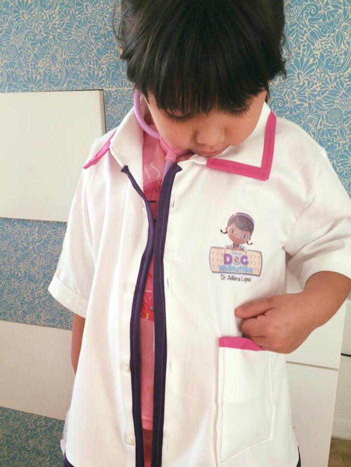 DIY Doc Mcstuffins Costume  DIY Children s Doctor Costume