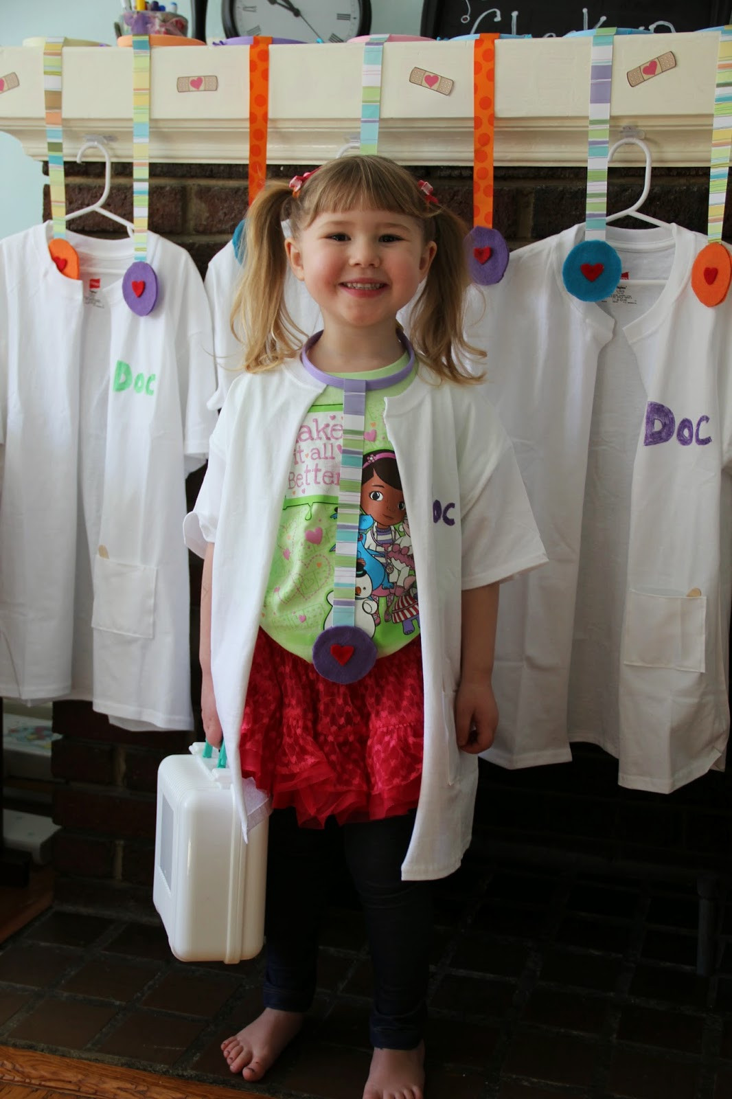DIY Doc Mcstuffins Costume  Don t for to check out my DIY Toy Stethoscope tutorial