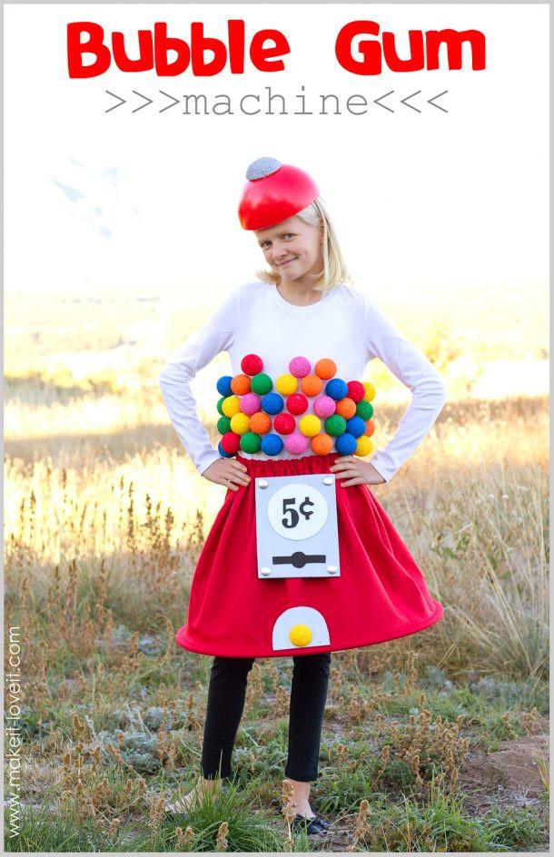 DIY Gumball Costume  20 DIY Halloween Costumes landeelu
