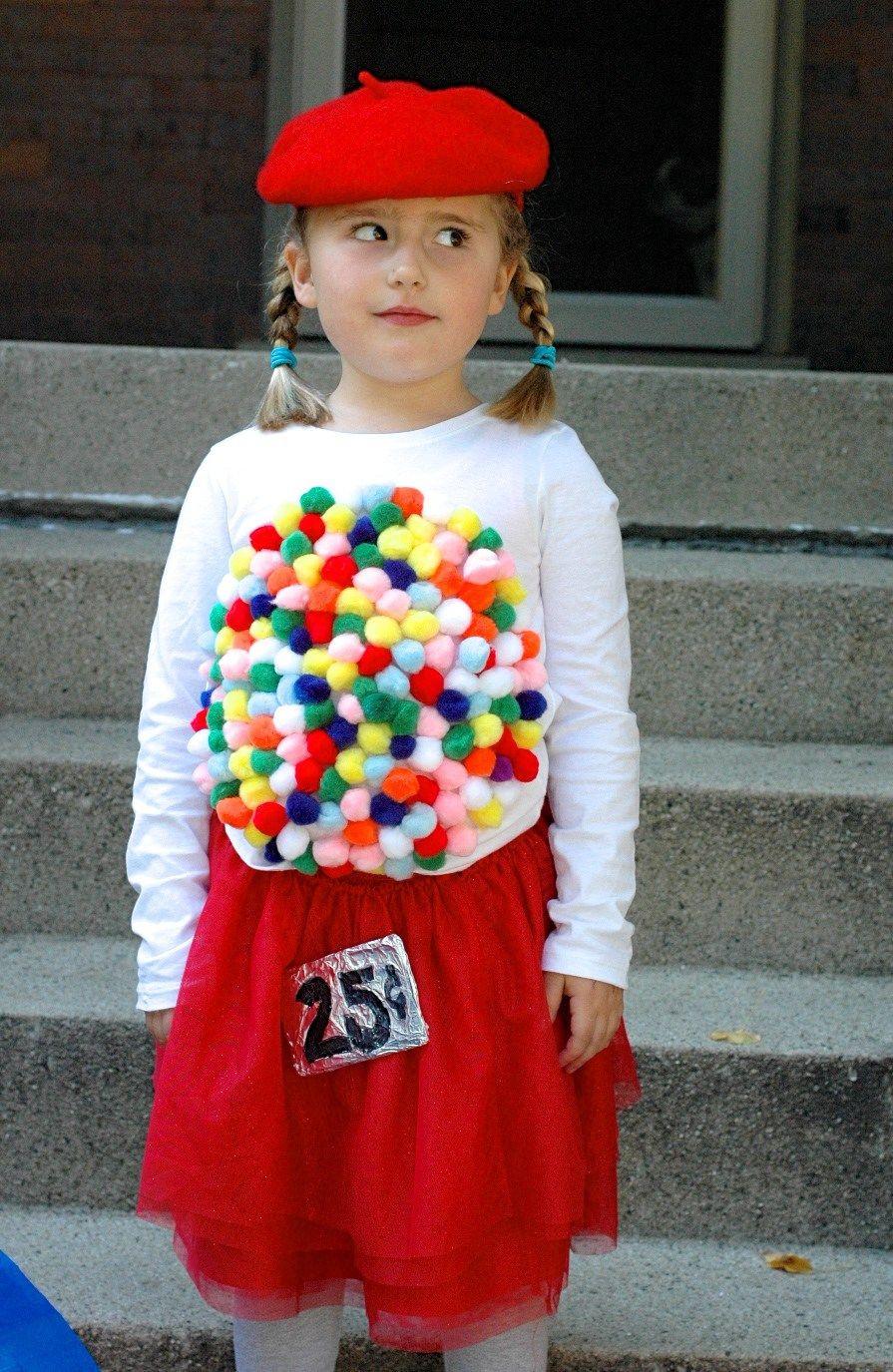 DIY Gumball Costume  Easy DIY Halloween Costume Idea Vintage Gumball Machine