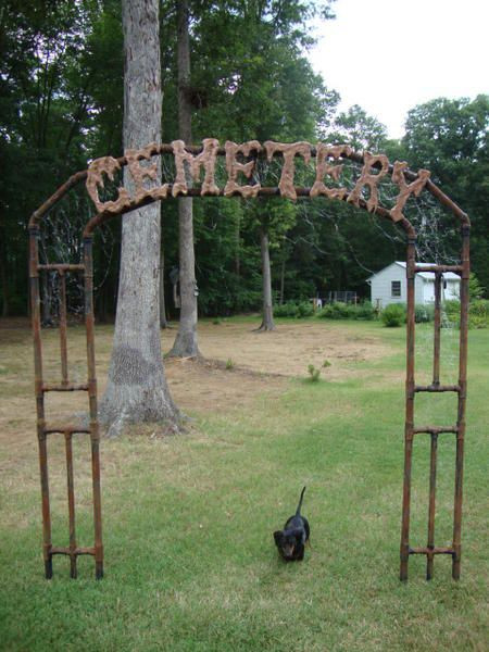 Diy Halloween Fence  17 best images about Halloween Cemetery Gates Arches