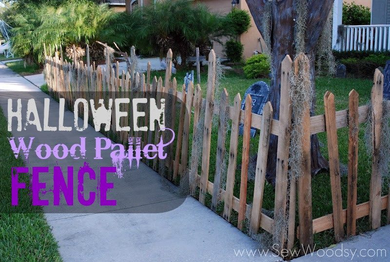 Diy Halloween Fence  Halloween Wood Pallet Fence Sew Woodsy