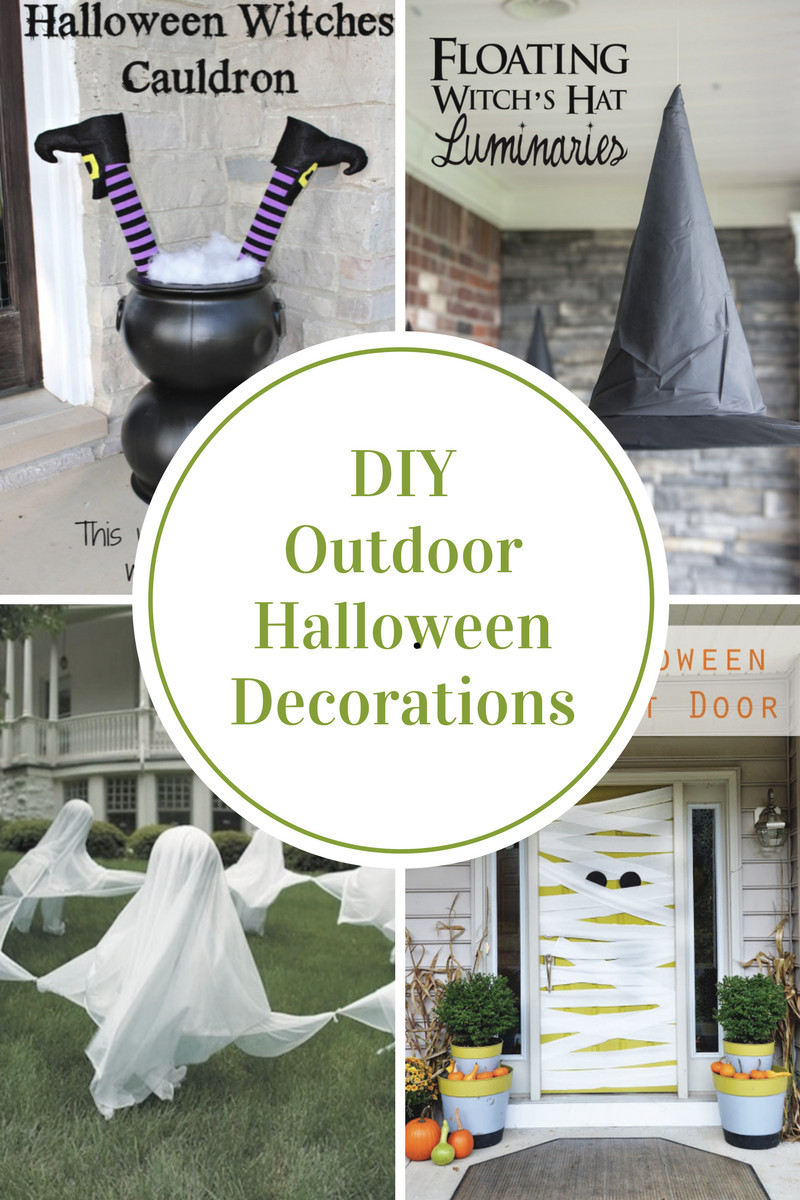 Diy Halloween Porch Decorations  DIY Outdoor Halloween Decorations The Idea Room