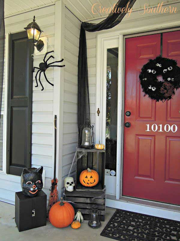Diy Halloween Porch Decorations  Top 41 Inspiring Halloween Porch Décor Ideas