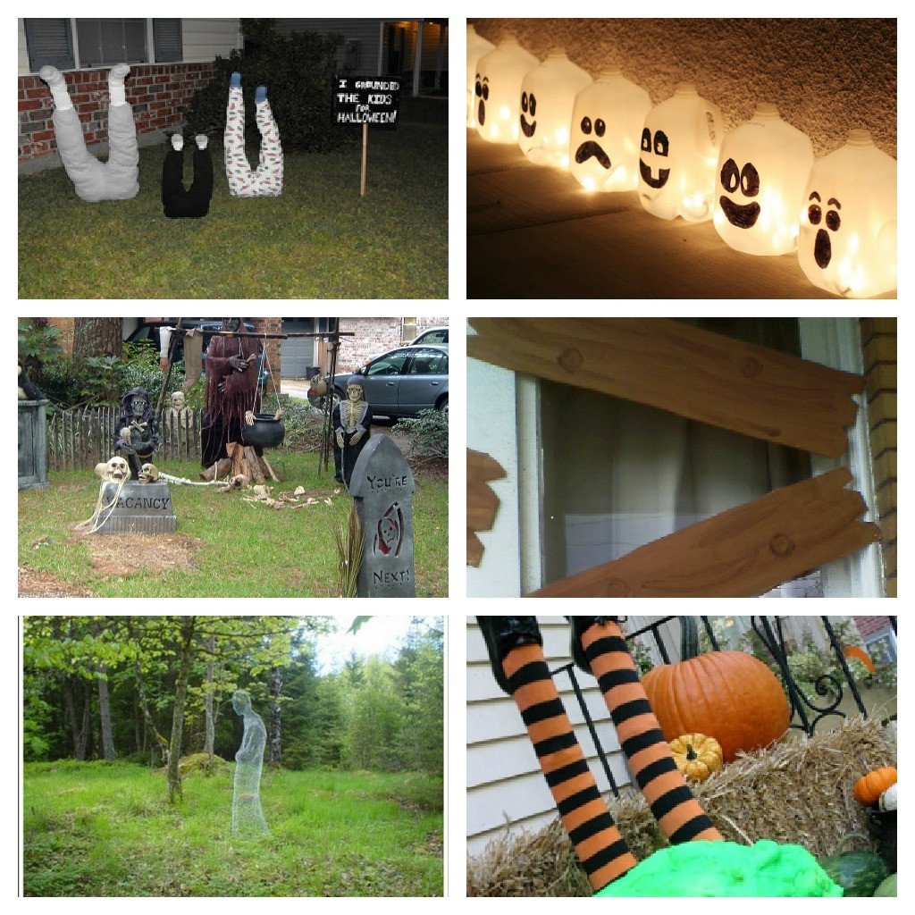 Diy Halloween Porch Decorations  Halloween Roundup DIY Yard Decorations
