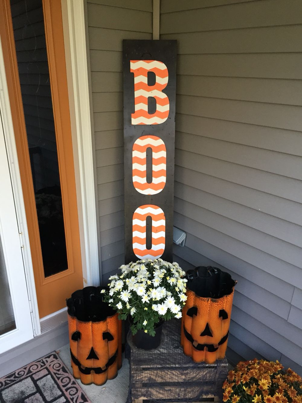 "Diy Halloween Porch Decorations  DIY wooden Halloween ""BOO"" sign Hobby Lobby wooden"