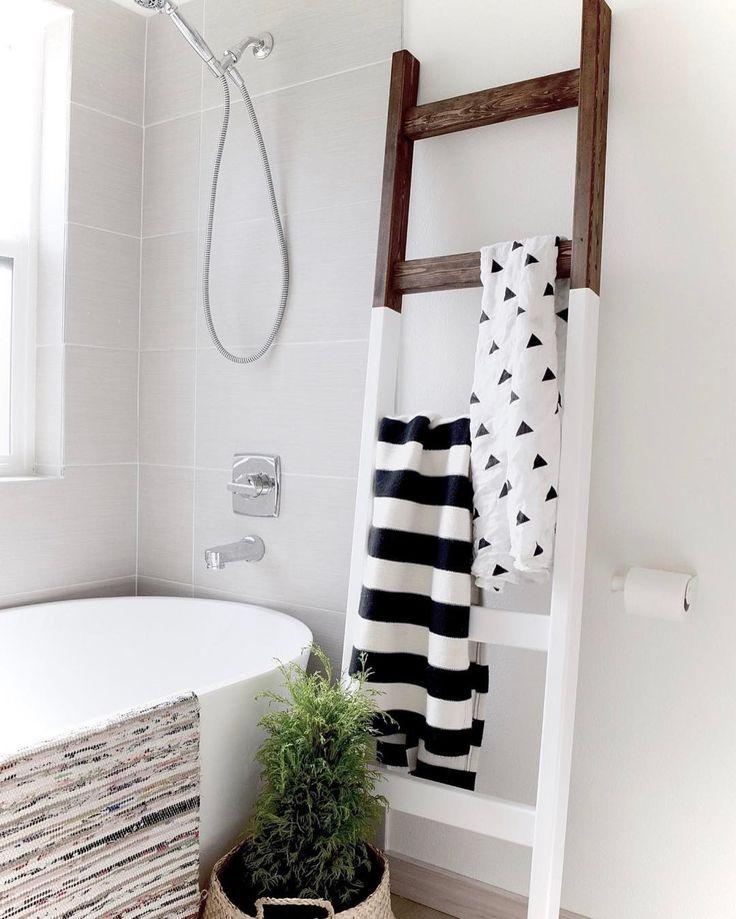 DIY Ladder Rack  25 great ideas about Blanket Ladder on Pinterest