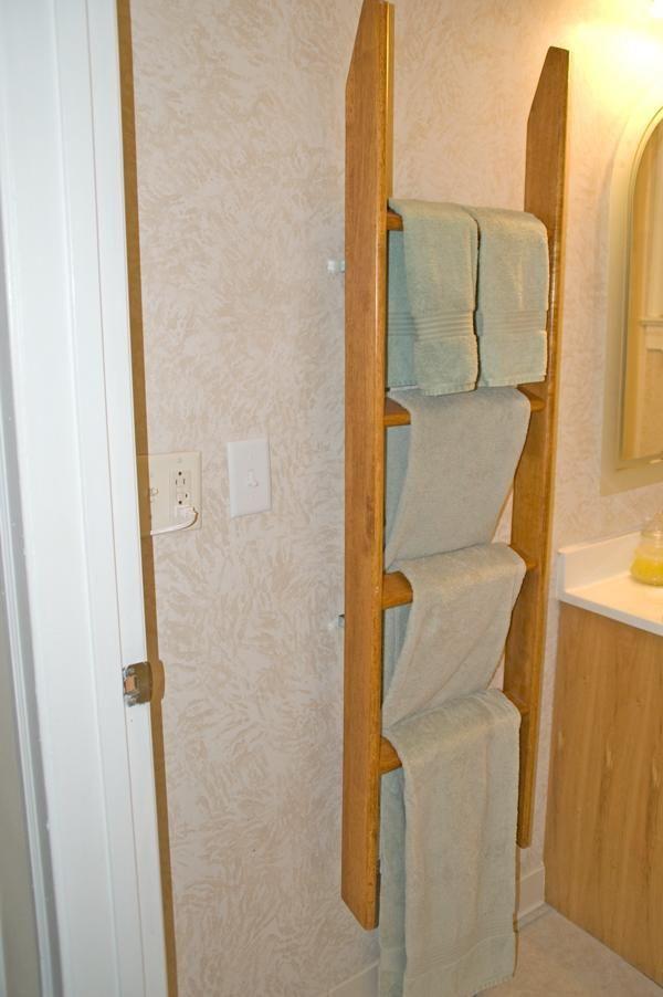 DIY Ladder Rack  25 best ideas about Ladder Towel Racks on Pinterest