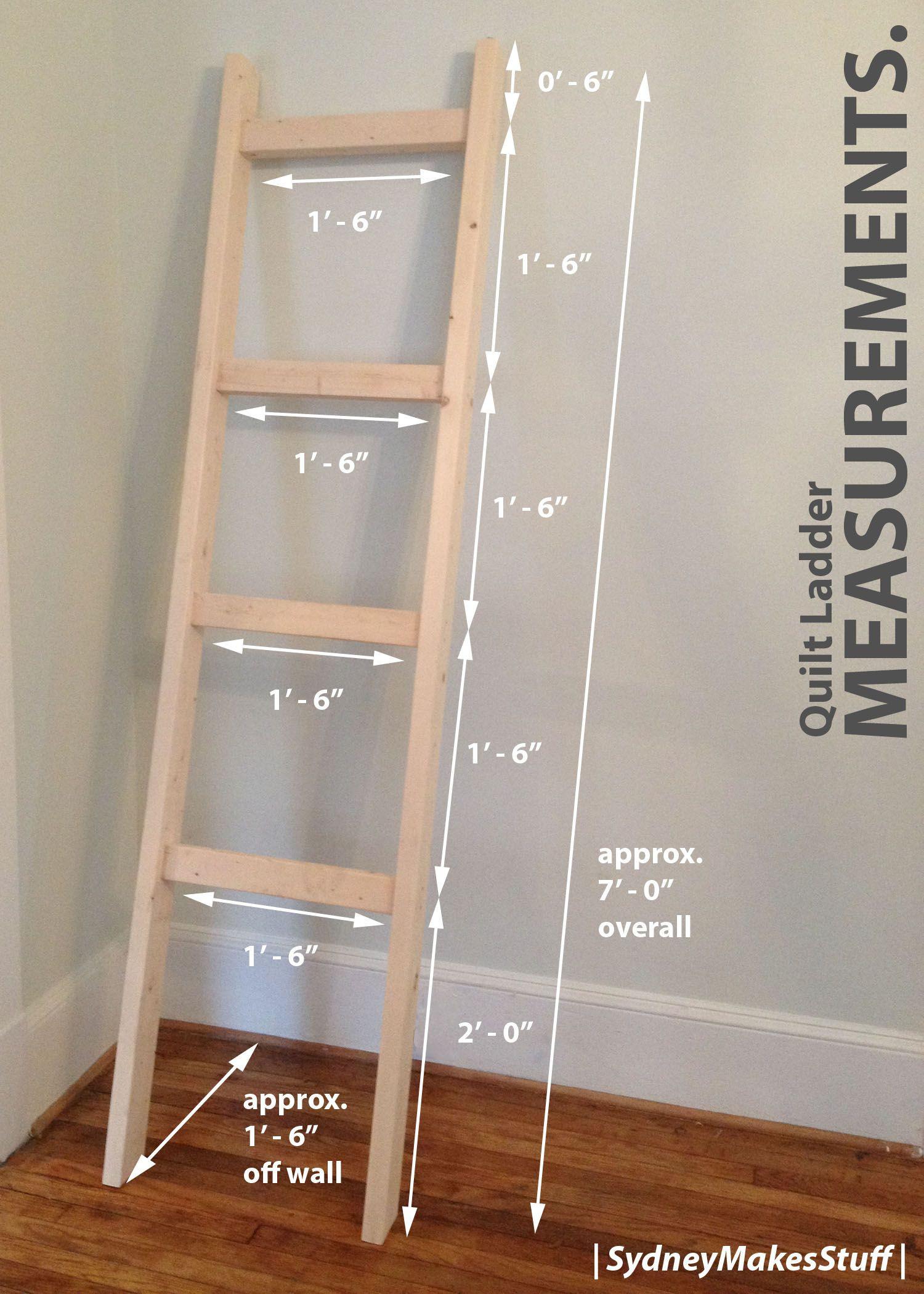 DIY Ladder Rack  DIY Quilt Ladder