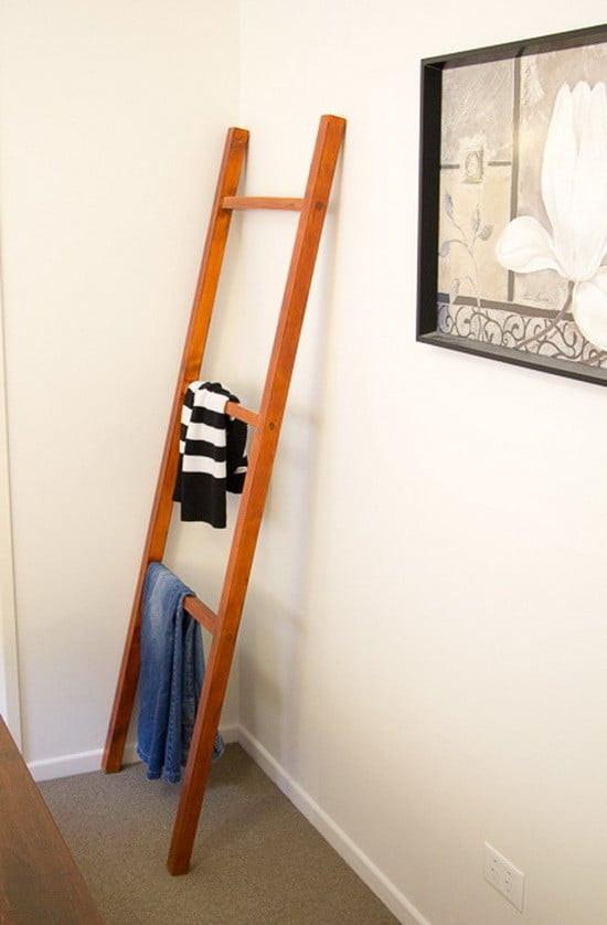 DIY Ladder Rack  How To Make A DIY Clothing Ladder Rack Step By Step