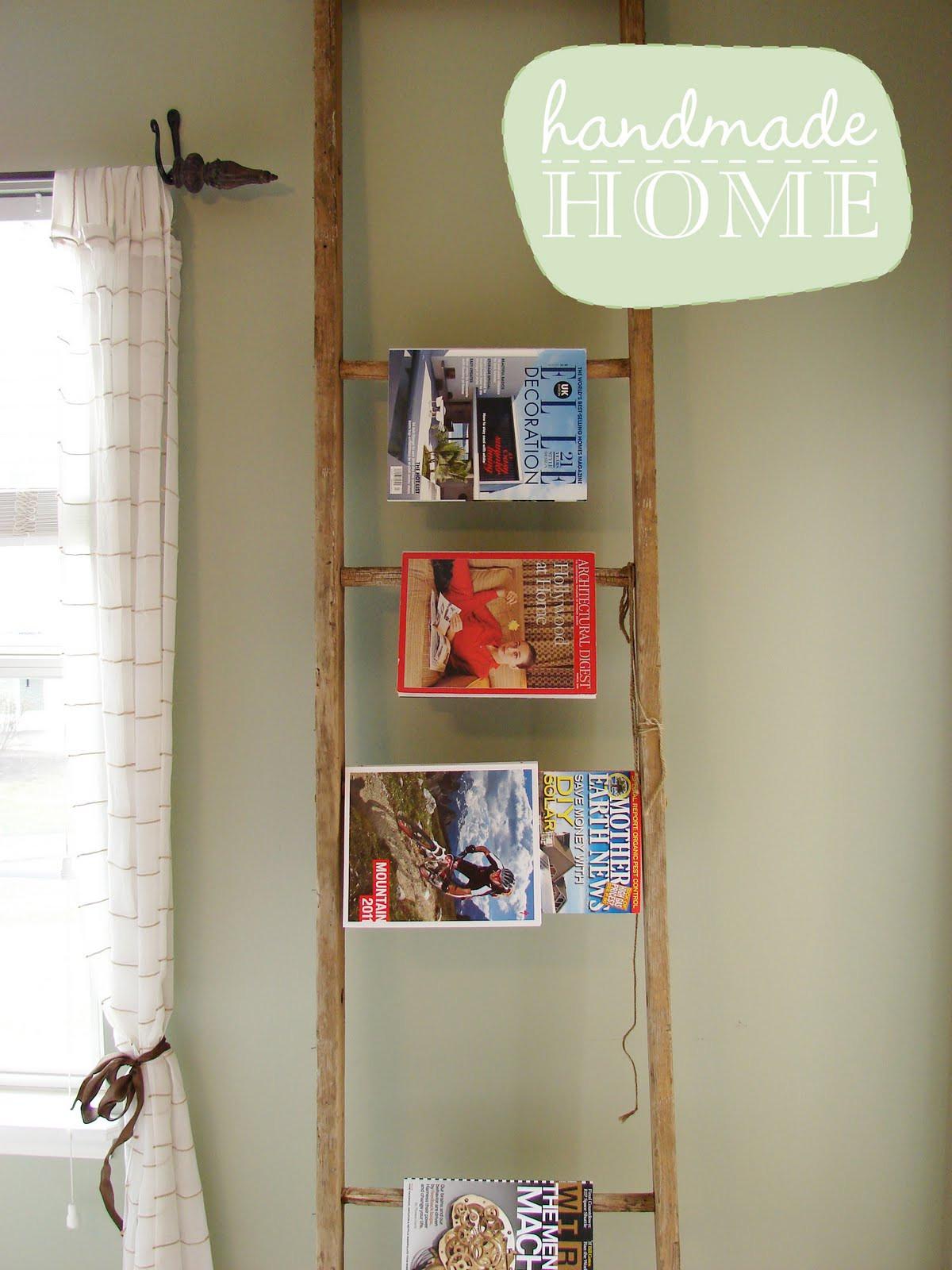 DIY Ladder Rack  Posies & Plume Handmade Home UPCYCLE DIY ladder
