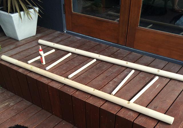 DIY Ladder Rack  Sarah Sherman Samuel bathroom refresh & diy towel ladder