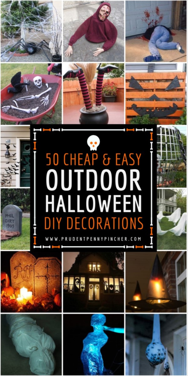 Diy Outdoor Halloween Decorations  50 Cheap and Easy Outdoor Halloween Decor DIY Ideas