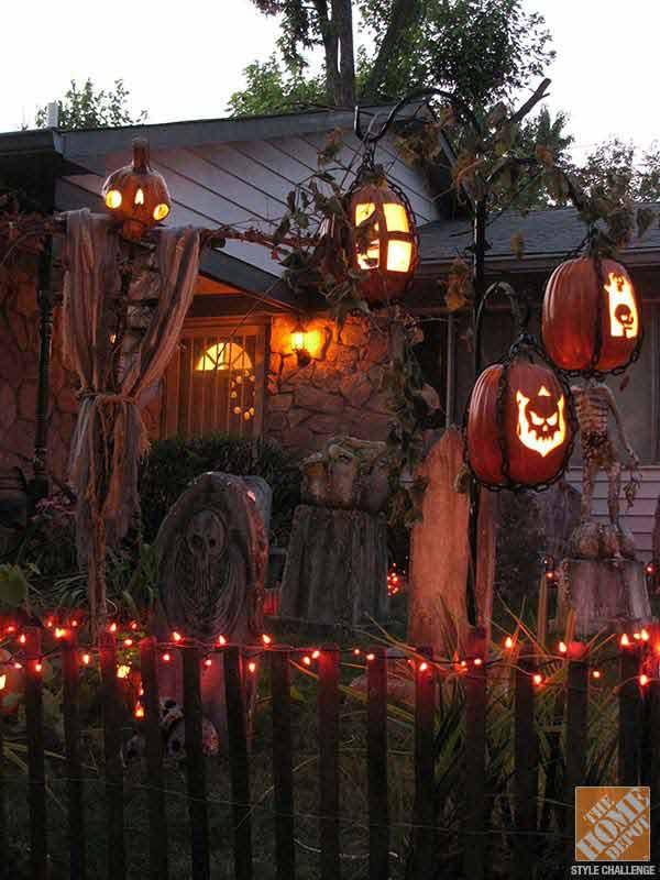Diy Outdoor Halloween Decorations  19 Easy and Spooky DIY Lights for Halloween Night