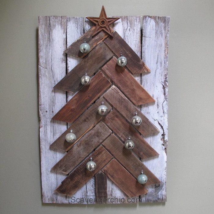 DIY Pallet Christmas Tree  Pallet Wood Christmas Tree diy My Repurposed Life™