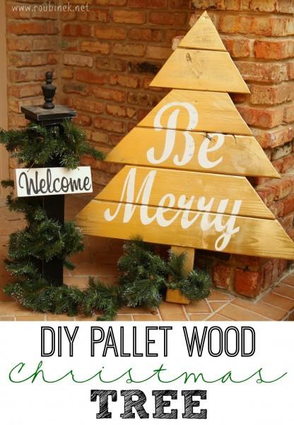DIY Pallet Christmas Tree  Show Stopper 69 Christmas Chocolate Simply Gloria