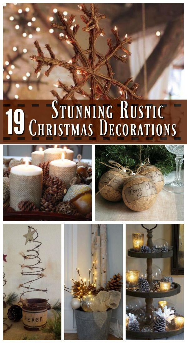 DIY Rustic Christmas Decorations  Best 25 Rustic christmas decorations ideas on Pinterest