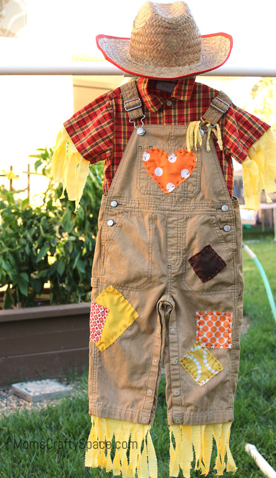 DIY Scarecrow Costume  DIY Toddler Scarecrow Costume With RIT Dye Happiness is