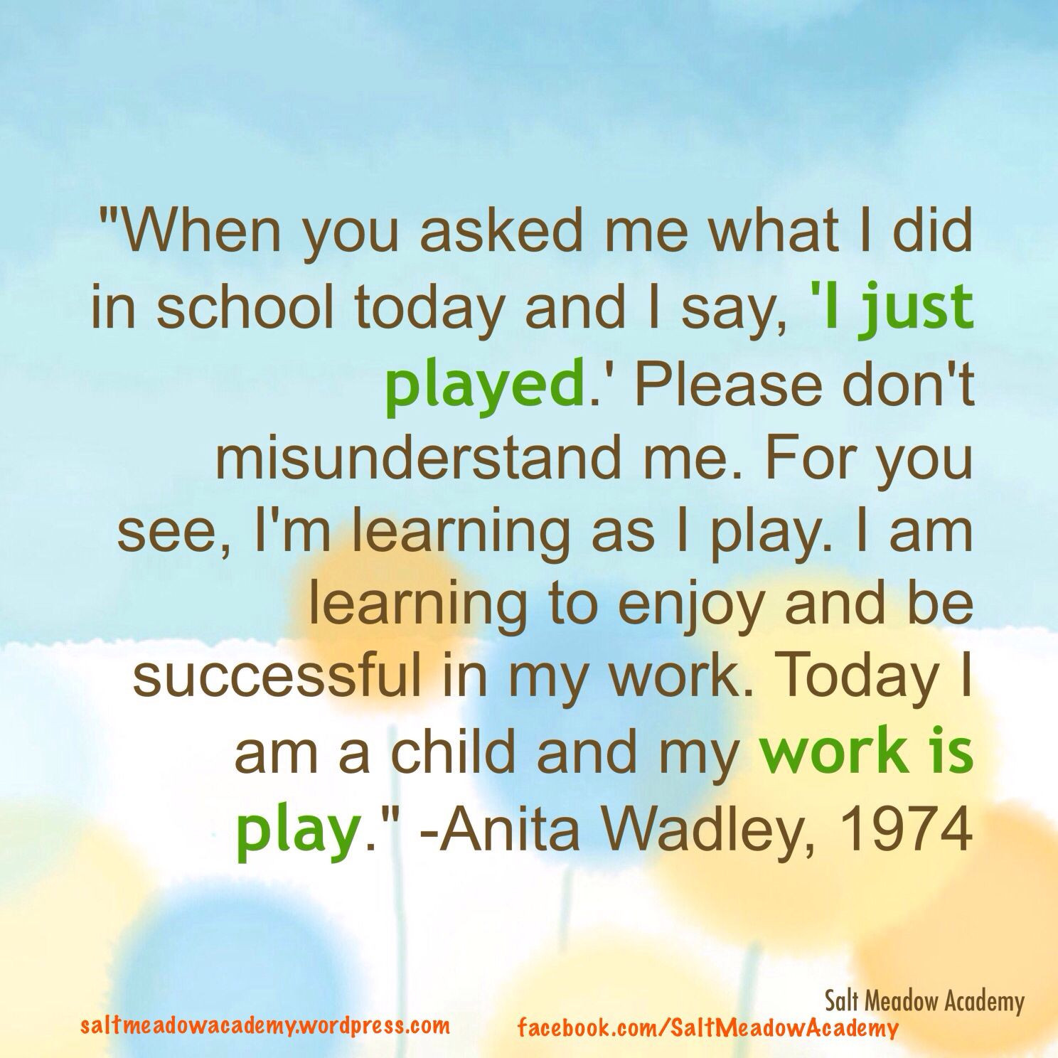 Early Childhood Education Quotes  Play quote Atelier