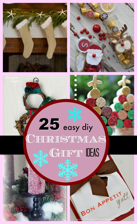 Easy Christmas Gift Ideas  25 DIY Easy Christmas Gift Ideas PinkWhen
