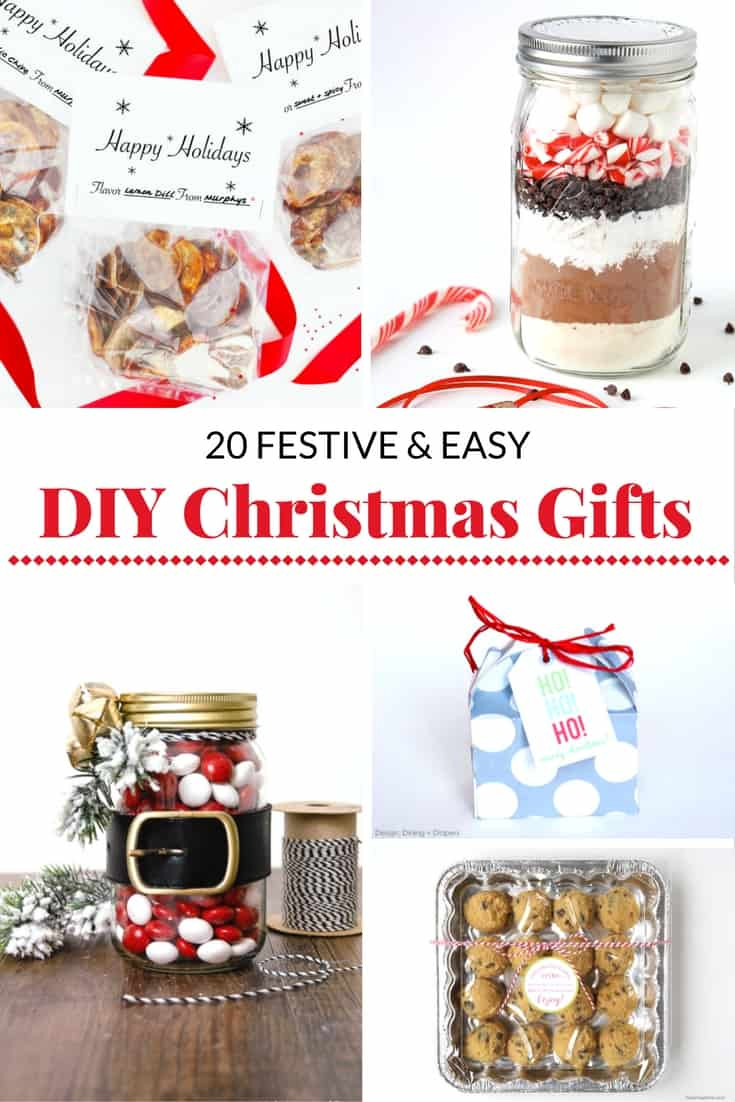 Easy Christmas Gift Ideas  20 FESTIVE AND EASY DIY CHRISTMAS GIFT IDEAS Mommy Moment