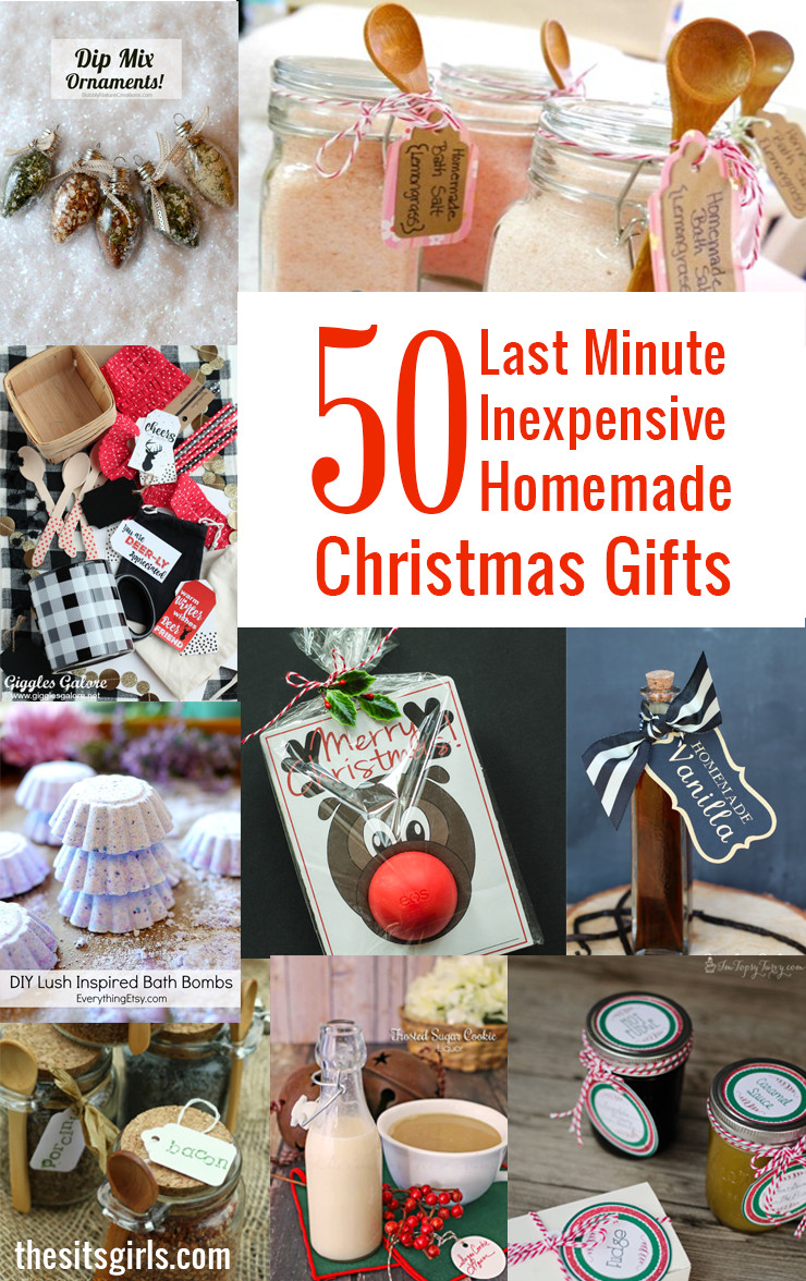 Easy Christmas Gift Ideas  50 Last Minute Inexpensive Homemade Christmas Gifts