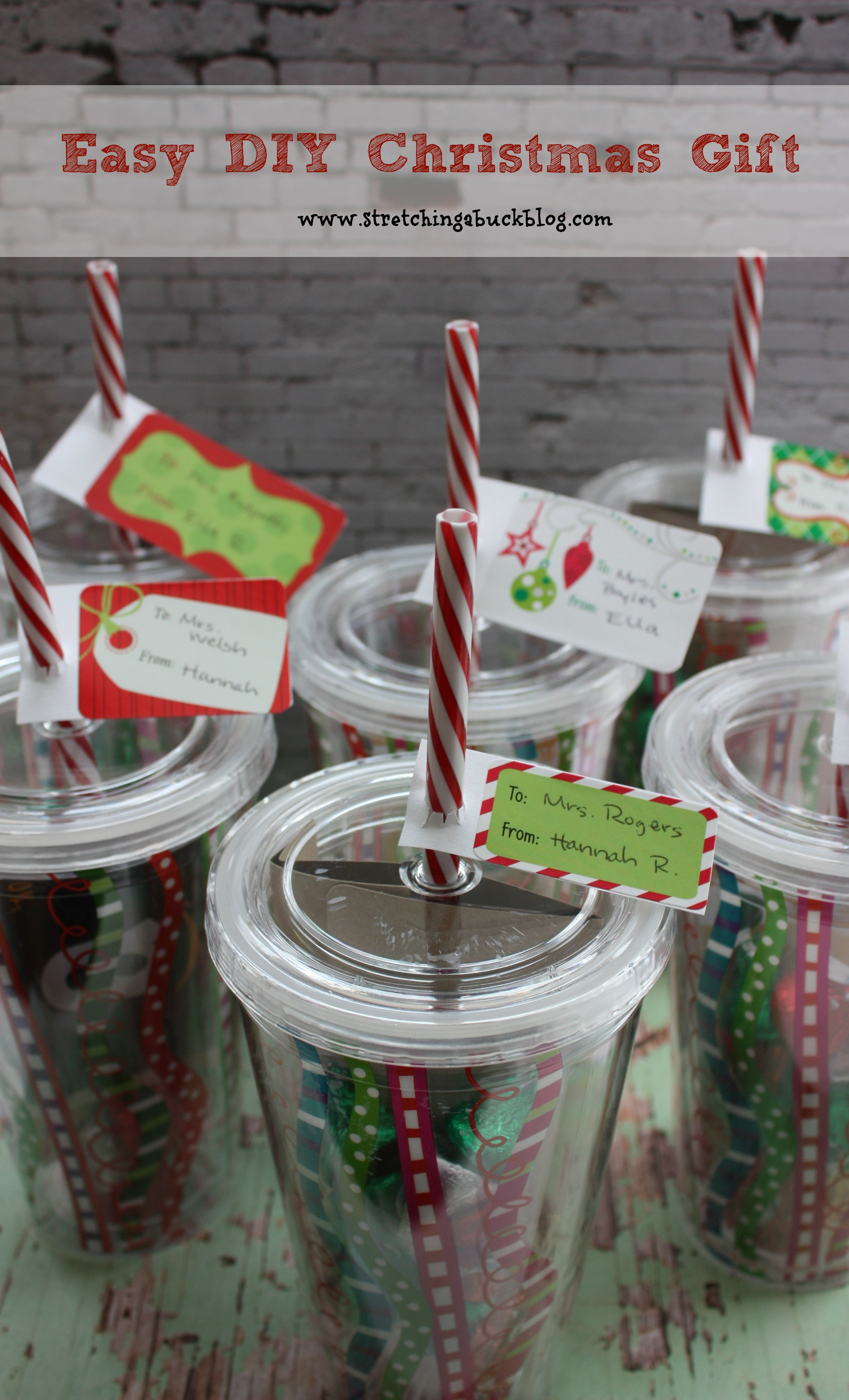 Easy Christmas Gift Ideas  Easy DIY Christmas Gift Idea for Teachers Friends More