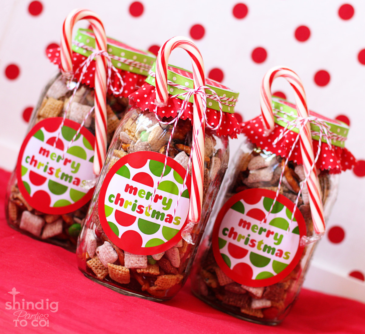 Easy Christmas Gift Ideas  How To Make Handmade Chex Mix Holiday Gifts & Bonus Free