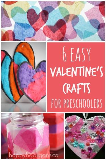 Easy Valentine Crafts For Preschoolers  6 Easy Valentine s Crafts for Kids Happy Hooligans