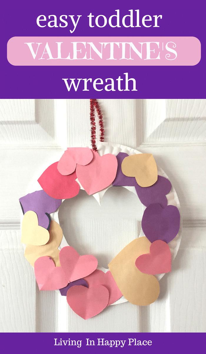 Easy Valentine Crafts For Preschoolers  Valentine s Day craft for kids Valentine s Day activity