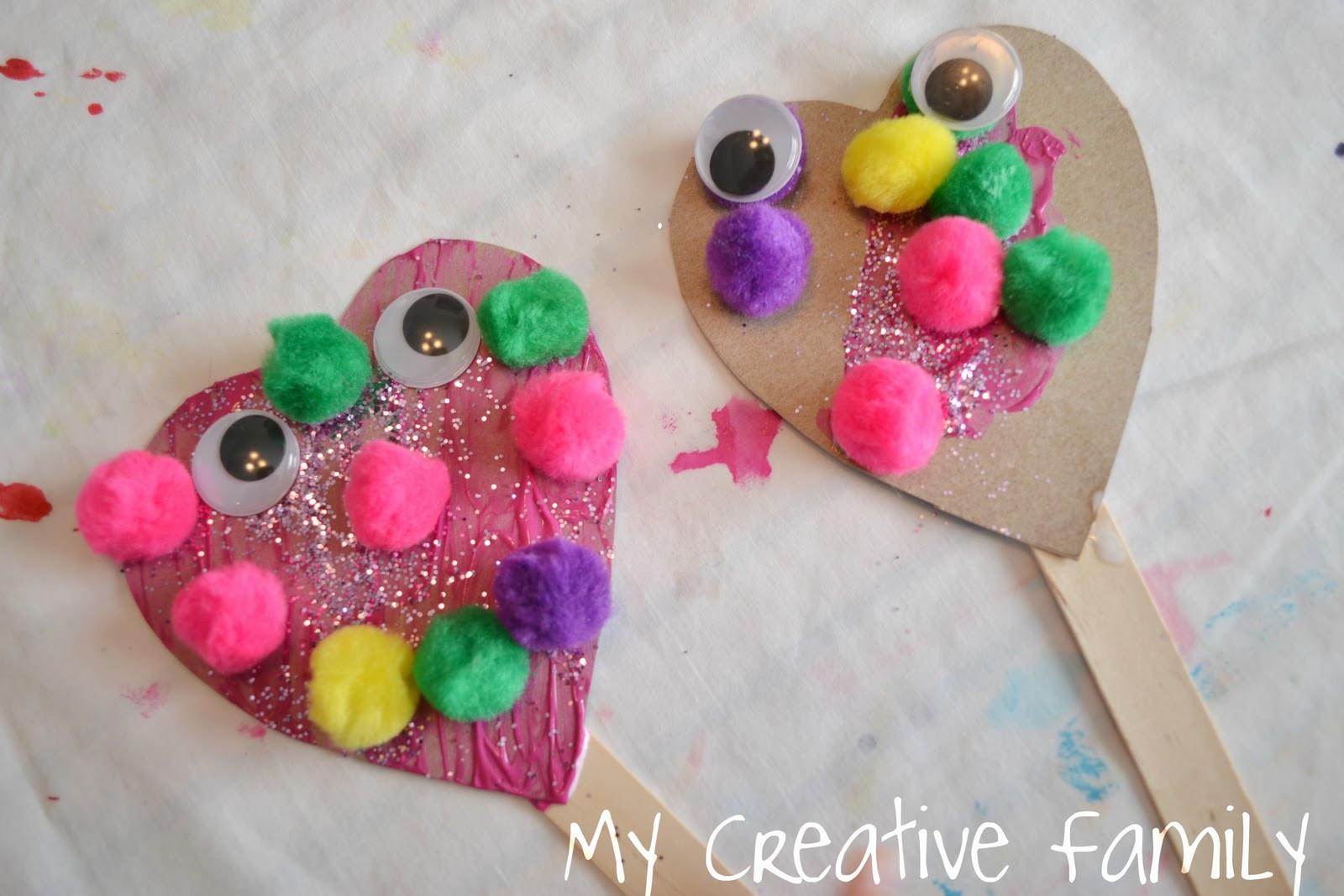Easy Valentine Crafts For Preschoolers  Valentine s Day Heart Puppets Craft
