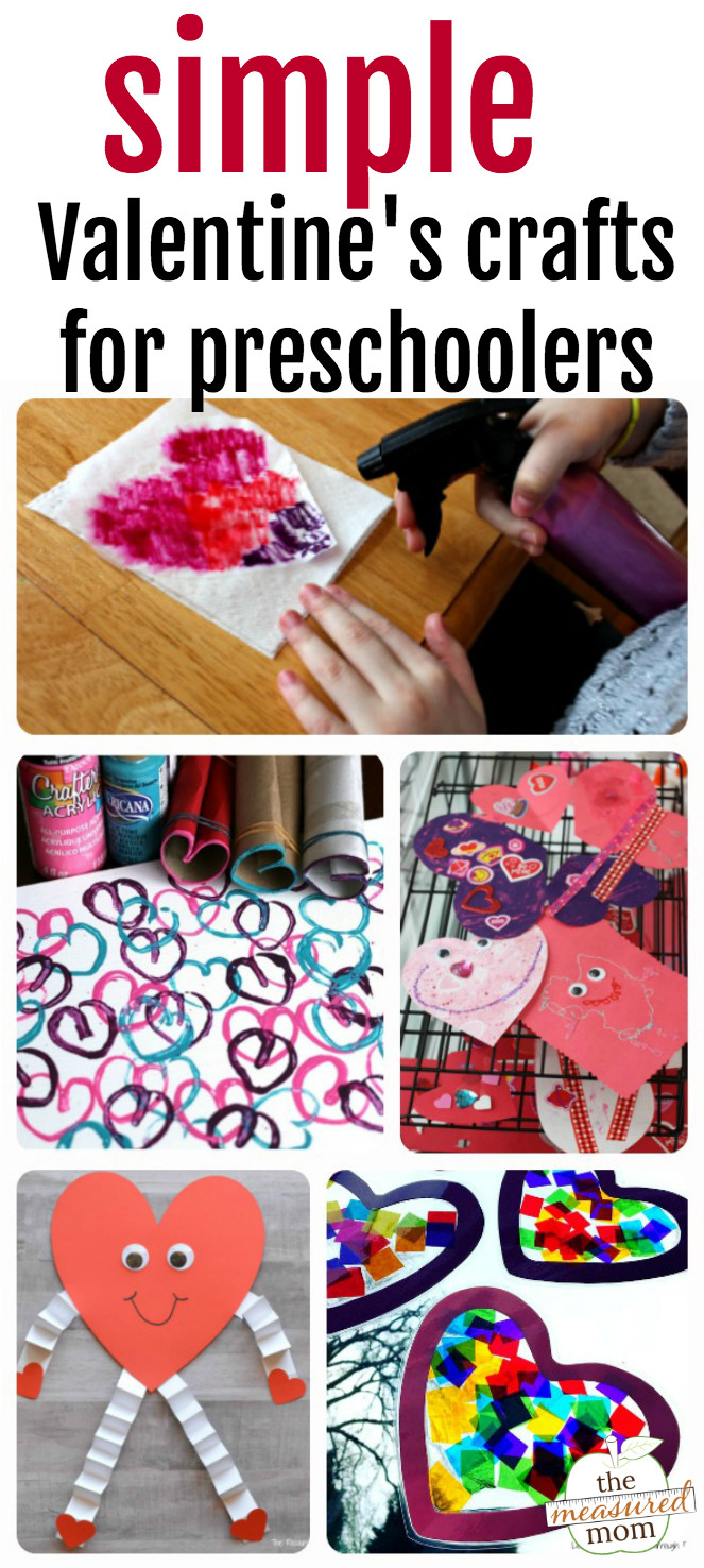 Easy Valentine Crafts For Preschoolers  Easy Valentine crafts for preschoolers The Measured Mom