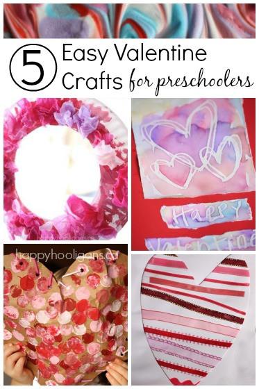 Easy Valentine Crafts For Preschoolers  5 More Easy Valentine Crafts for Toddlers Happy Hooligans
