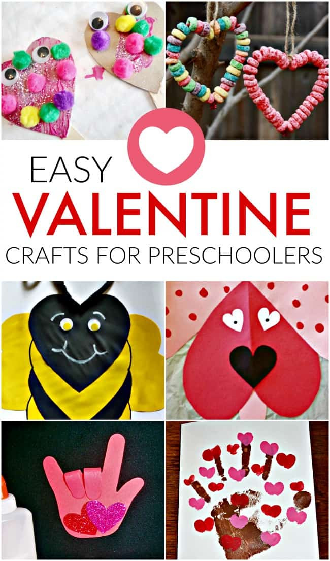 Easy Valentine Crafts For Preschoolers  Easy Valentine Craft Ideas for Preschoolers Crafts for