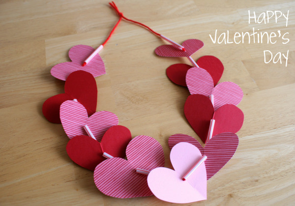 Easy Valentine Crafts For Preschoolers  Preschool Crafts for Kids Valentine s Day Heart Necklace