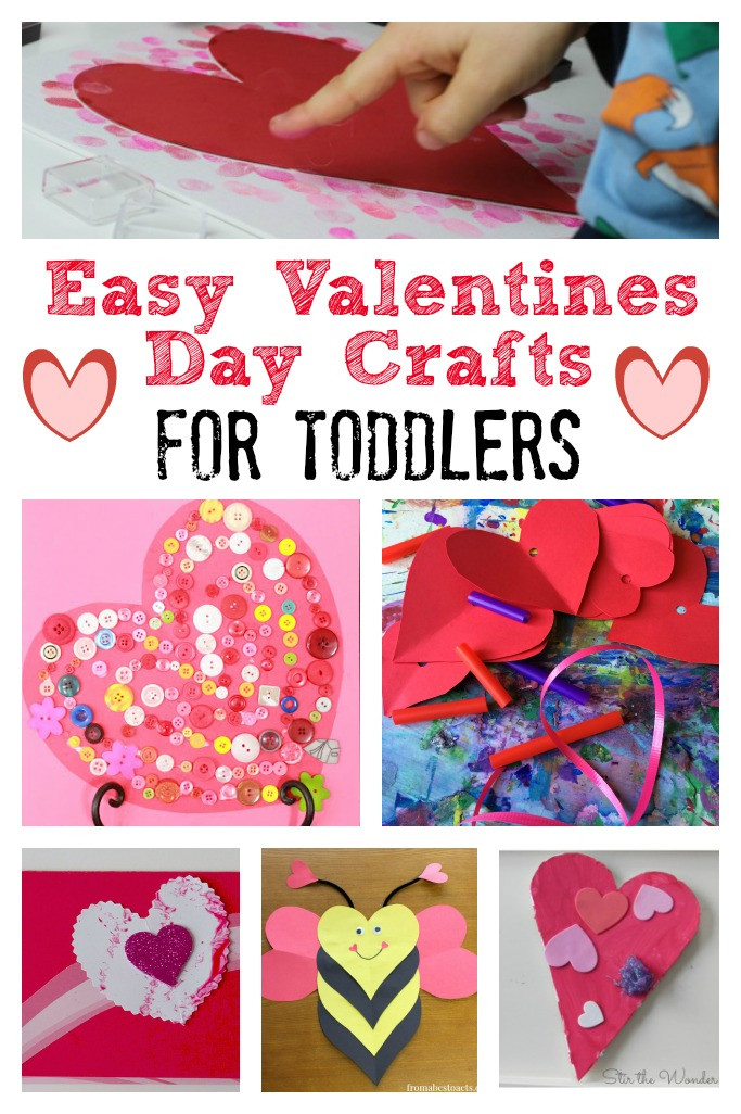 Easy Valentine Crafts For Preschoolers  Valentines Day Crafts for Toddlers Crafts on Sea