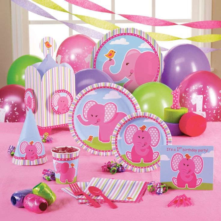 Elephant Birthday Decorations  1000 ideas about Pink Elephant Party on Pinterest