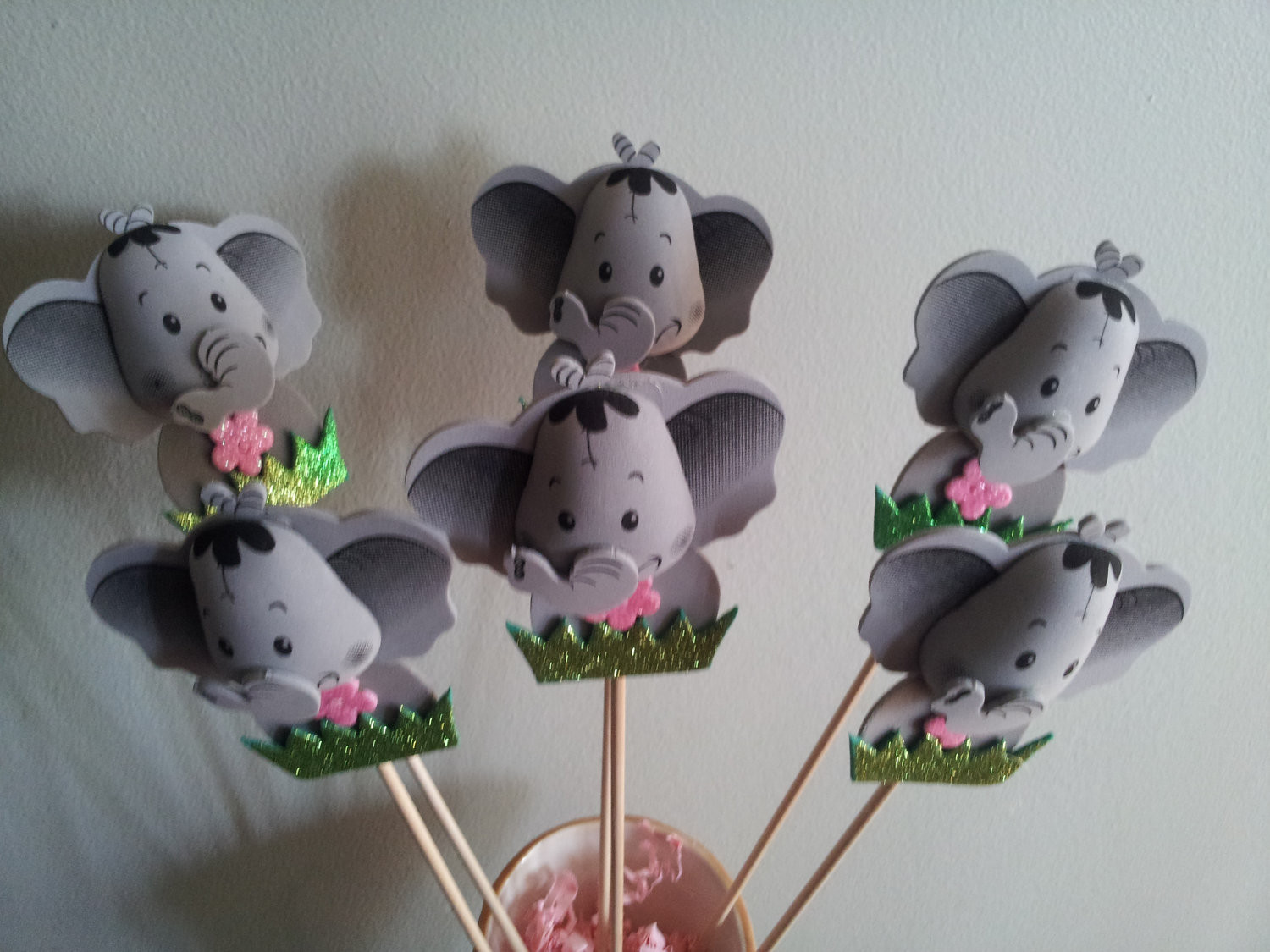 Elephant Birthday Decorations  6 foam ELEPHANT centerpieces party decorations