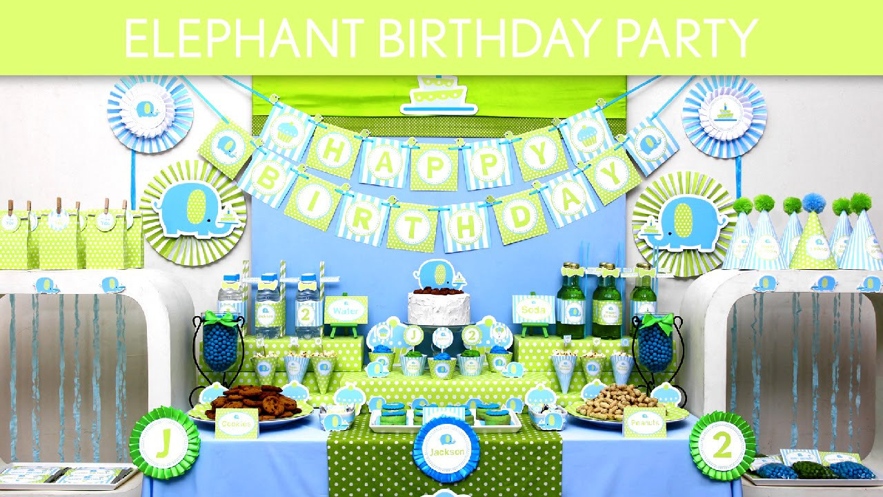 Elephant Birthday Decorations  Elephant Birthday Party Ideas Elephant B135