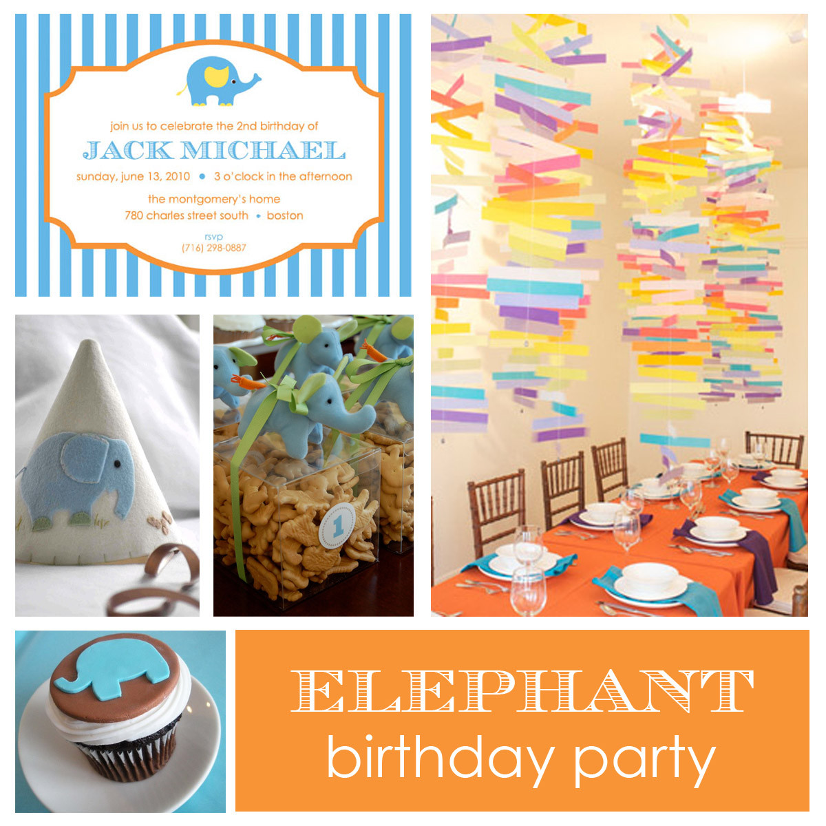 Elephant Birthday Decorations  Party Elephant Birthday