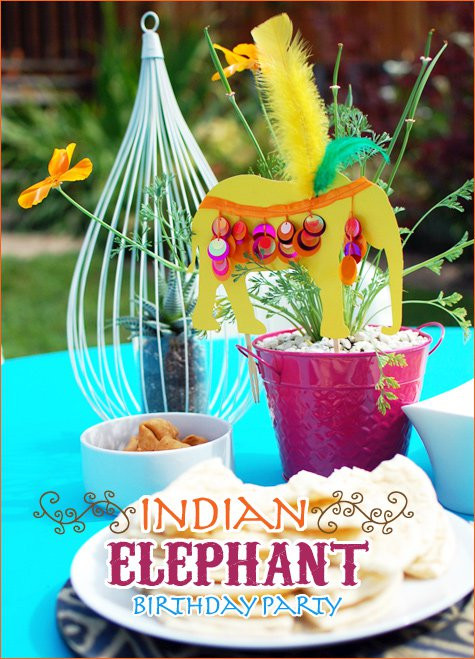Elephant Birthday Decorations  REAL PARTIES Indian Elephant Theme Hostess with the