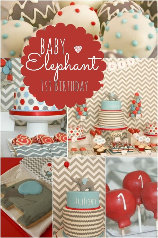 Elephant Birthday Decorations  Best 25 Elephant first birthday ideas on Pinterest