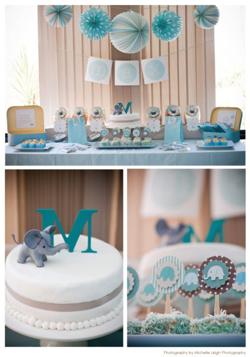 Elephant Birthday Decorations  Swanky Blog Baby Elephant makes a Perfect Baby Shower Theme