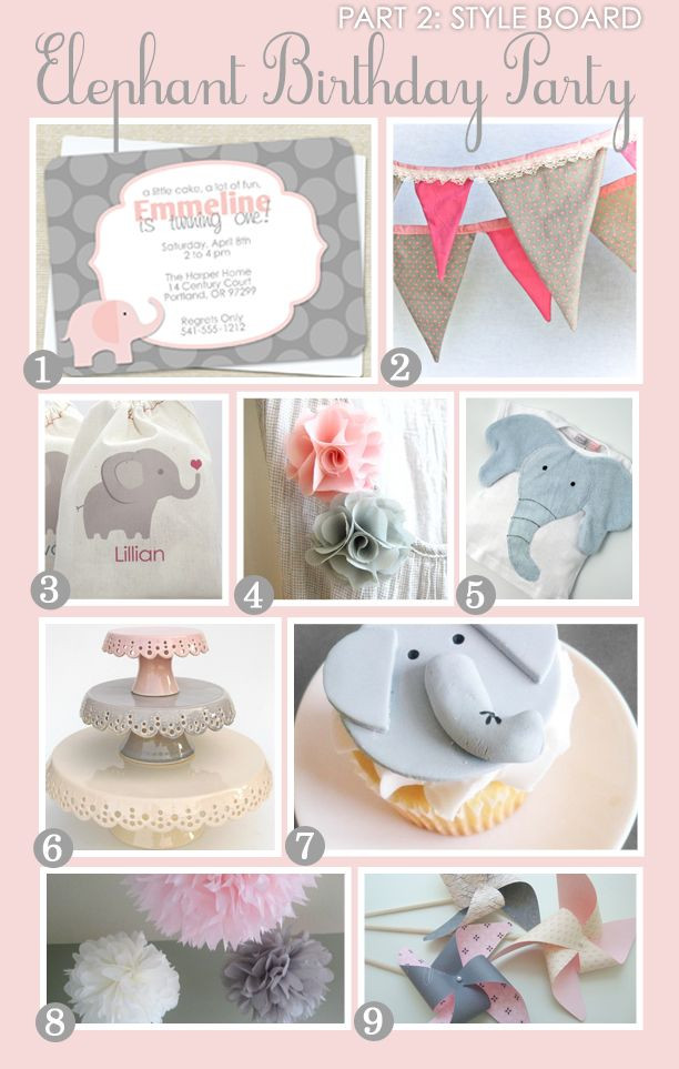 Elephant Birthday Decorations  Best 25 Pink elephant party ideas on Pinterest