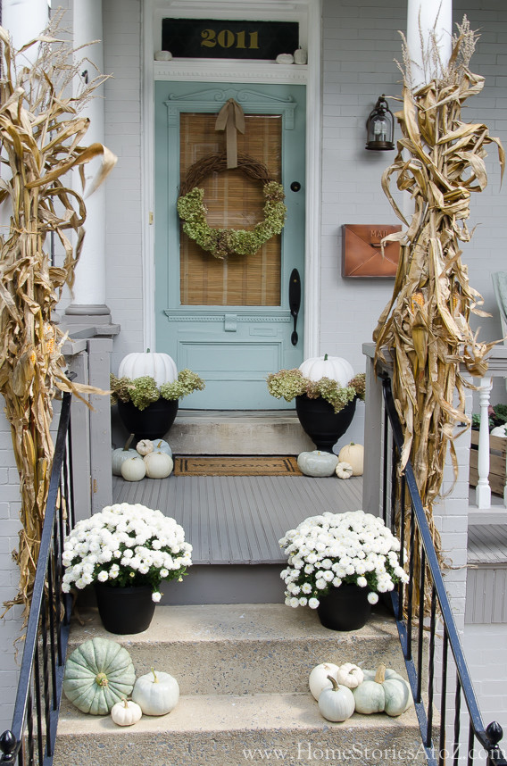 Fall Decorations For Front Porch  Fall Porch Decorating Ideas