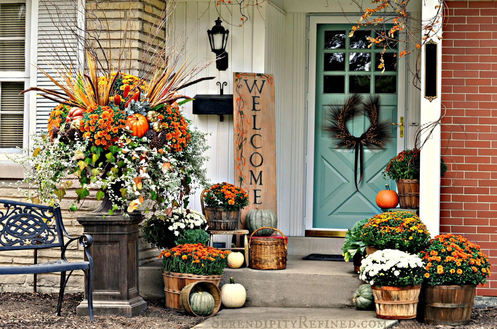 Fall Decorations For Front Porch  30 Fall Porch Decorating Ideas Ways to Decorate Your