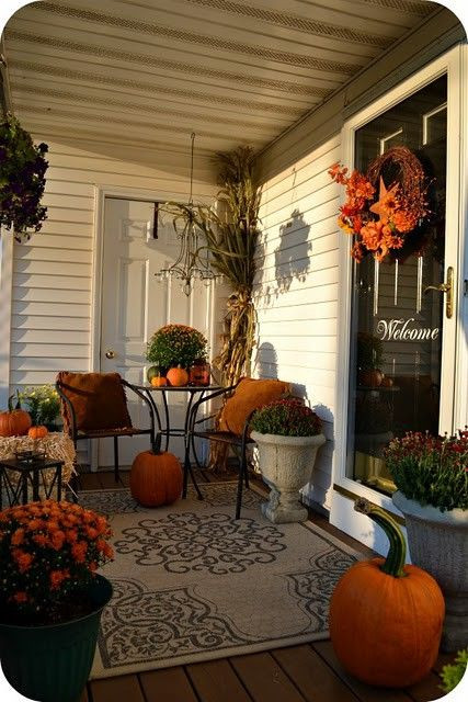 Fall Decorations For Front Porch  Halloween Deck Decorating Ideas