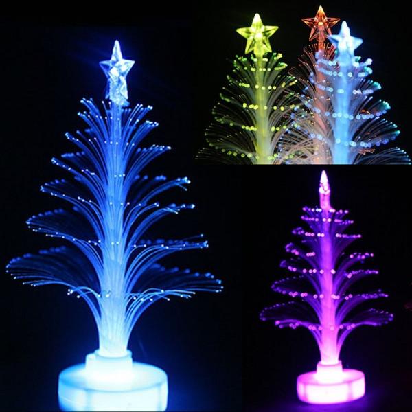 Fiber Optic Christmas Lighting  Colorful LED Fiber Optic Night Light Christmas Tree Lamp
