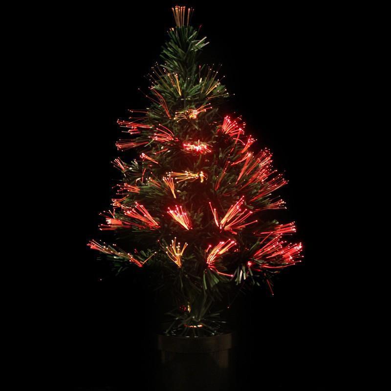Fiber Optic Christmas Lighting  60Cm Led Fiber Optic Christmas Tree Fiber Optic Christmas